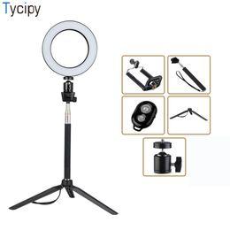 Argentina Tycipy Ring Light LED Fotografía Selfie Light Photo Camera Video Table Mini Tripod Selfie Stick Bluetooth Obturador USB Cor Suministro