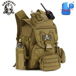 большие сумки для рюкзака для армии Скидка 40L Большой Емкости Человек Армия Тактические Рюкзаки Нападения Сумки Открытый Водонепроницаемый Молл Пакет Для Похода Отдых На Природе Охота