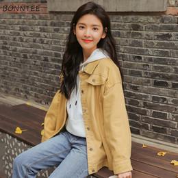 Seni graziosi online-Giacche Donna Lovely Sweet Girl Studenti New Turn-down Tasche a colletto Casual monopetto stile coreano 2019 Chic Womens Daily