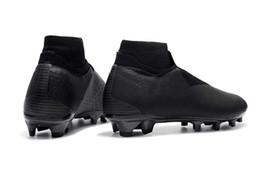 Обувь для мужчин онлайн-Boutique Men Вязаная FG / AG футбол обувь Открытый Зрение Колледж MG Shadow Series Black бутсы