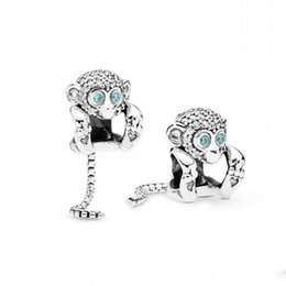 Neue Authentische 925 Sterling Silber Perlen Charm Shining Naughty Monkey Charms Fit Armbänder Diy Frauen Schmuck von Fabrikanten