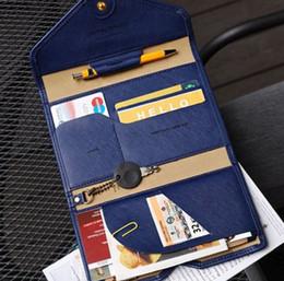 Корейский владелец паспорта онлайн-2016 hot selling Korean Style Passport Wallet Multifunction  Package ID Holder Travel Clutch Bag for women and men