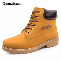 botines de encaje para hombre Rebajas 2019 zapatos de los nuevos hombres botas de invierno de los zapatos calientes del camuflaje cargadores de la nieve del invierno del Mens calzado ata para arriba el tobillo