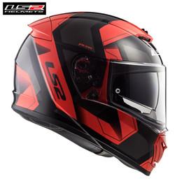cascos ls2 rojos Rebajas * * PINLOCK gratuito LS2 FF390 INTERRUPTOR FÍSICA NEGRO ROJO de la cara llena casco de la motocicleta de los hombres que compite con Casque Moto timón del motor