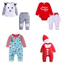 2019 roupa de floco de neve baby Bebês Crianças Equipamentos de Natal Carta Snowflake Gauze Roupa Define dos desenhos animados Strap Set Designer crianças roupas dos meninos do bebé Roupa 3-24M 07