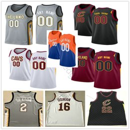2019 cleveland basquete Cleveland Cavaliers impressos Kevin 0 Amor Collin 2 Sexton 16 Cedi Osman Tristan Thompson 13 Dylan Windler 10 Darius Garland Basketball Jersey