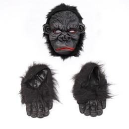 Pé cosplay on-line-Orangotango Máscara assustador de Halloween Horror Ape máscara de silicone Cosplay orangotango Máscara Abastecimento orangotango Pé Costume Party