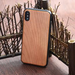 Caixa de madeira sólida iphone on-line-Madeira real para Iphonex natural madeira maciça telefone case caixa do telefone de madeira ultra-fino para apple X