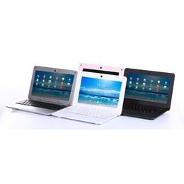 2019 ordinateur portable argent 10.1 pouces Netbook Android 6.0 Système 1G / 8G Mini Ordinateur Portable Noir Blanc Rose Argent ordinateur portable argent pas cher