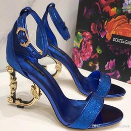 sandali confortevoli con tacco alto Sconti Estate nuova moda D-G moda antiscivolo tacchi alti sexy sandali comodi in pelle di lusso tacchi alti taglia 34-42 numbe: 51-78889
