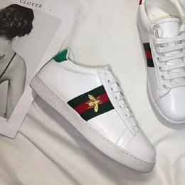 Argentina Hot Branded Jacquard Elastic Strip Leather Sneaker Moda Mujer Abeja con cordones de suela de goma Zapatos Tamaño EU35-44 cheap stripped rubber shoes Suministro