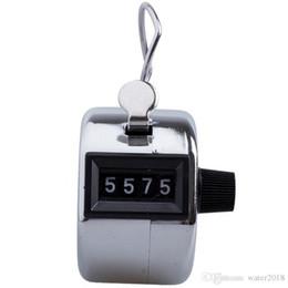 Contador de contagem de mão de metal on-line-Aço inoxidável Mini Esporte Lap Golf Handheld Manual de 4 Dígitos Número Mão Contador Clicker Prata Livre DHL 1014