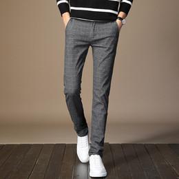 2019 casacos ocasião borgonha Homens Vestido Pant Manta de Negócios Casuais Slim Fit Pantalon A Carreau Homme Clássico Terno Do Verã Calças Calças De Casamento Do Vintage