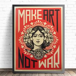 Fare arte non la guerra d'epoca Poster Stampe della pittura a olio su tela di canapa per pareti Immagini per la decorazione del salone da nuda pittura famosa fornitori