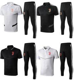 Camisetas de polo de los hombres online-2019 Fans Player Version RONALDO Juventus 2020 camisetas de fútbol de la liga de campeones DYBALA 19/20 BUFFON polo kit de fútbol camiseta HOMBRES establece uniforme