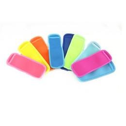 Neoprene Holder Popsicle colori solidi di pop Ice manica Congelatore bordo copertura 18cm * 6cm Estate Ice Cream Beach Utensili da cucina C7909 da telaio telaio fornitori
