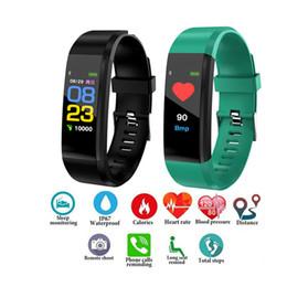 Ha condotto la visualizzazione in esecuzione online-Schermo a colori intelligente Bracciale di sport contapassi orologio fitness Esecuzione Walking Tracker frequenza cardiaca intelligente Banda di Uomini Orologi Wome