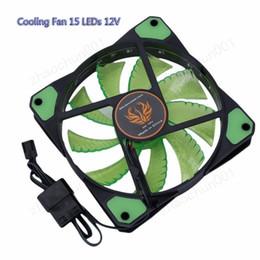 foxconn atacado Desconto 120mm 15 LED Ultra Silencioso Computador PC Case Cooling Fan 15 LEDs 12 V Com Borracha Conector Molex Silêncio 3 / 4Pin plugue fãs Cooler