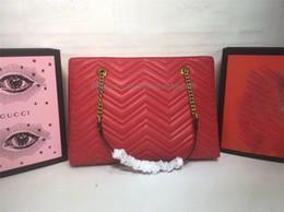 Diseñador grandes bolsos negro online-Bolsos de diseñador bolso de compras negro rojo mujer patrón de onda bolso de hombro clásico de alta calidad de la marca de gran capacidad