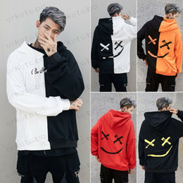 Hoodies dropshipping on-line-Dropshipping Fornecedores Homens hoodies camisolas Sorriso Imprimir Headwear Hoodie Hip Hop Streetwear Vestuário Us tamanho Plus Size 3XL