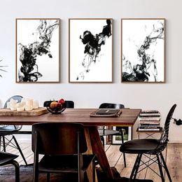 cartaz abstrato preto branco Desconto Novo Chinês preto e branco tinta líquida Difusão Trajetória pintura da lona da arte abstracta impressão Impressão Imagem parede Home Decor