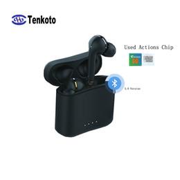 Toma de fábrica de manzana negra online-Auriculares Bluetooth de alta calidad Negro HIFI In-ear Voz para Android IPhone Call Universal English Factory Outlet Earphone