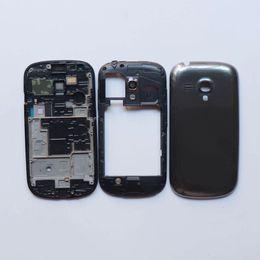 Samsung deckt gt online-Für Samsung Galaxy S3 mini GT-i8190 i8190 Gehäuseoberteil + mittlerer Rahmen + Batteriefachdeckel Reparaturteile Weiß Grau Blau