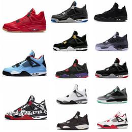 buy online fbc4d aa72e Con caja Travis 4 Cactus Jack 4s Raptors para hombre Zapatos de baloncesto  4s Cemento blanco Negro Rojo 4 Superman Zapatillas deportivas de moda