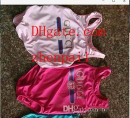 High-end-overalls online-Ins bester verkaufender einteiliger Babyoverall-Badebekleidungsdruckbuchstabe-Badeanzug des hohen Endes scherzt Strandkleidung 2T-8T A-L1