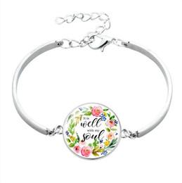 Mode Psalm Armband Kunst Bild Print Glaskuppel Charms Armband Bibel Vers Zitat Schmuck Geschenk für Christian von Fabrikanten