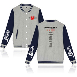 kpop baseballjacke Rabatt Mode Kpop Gedruckt Tasche Taste Baseballjacke Männer Frauen Hoodie Sweatshirts Mantel Lässige Langarm Hoodies Jacken