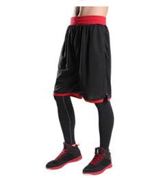2019 tallas de pantalones para niños Pantalones cortos de baloncesto para hombre Boy Sport Pantalones cortos de entrenamiento Fitness Elástico Summer Beach Gym Transpirable Tallas grandes rebajas tallas de pantalones para niños