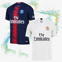 Camisa barata barata on-line-Thailand PSG camisa de futebol 7 MBAPPE jersey 9 CAVANI 6 Verratti 18-19 home Camisa Futebol Customizável Charme e barato não perca