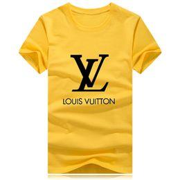 Roupa de rua em t shirt on-line-2018 New designer marca em torno do pescoço T-shirt Street wear Europa Paris Homens tamanho Grande Algodão Casual Tee T-shirt S-4XL