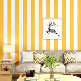 papel tapiz del dormitorio vertical Rebajas Home Strip Wall Papers Decoración vertical Noridc Warm Yellow White Wallpaper Stripe para dormitorios Paredes Papel Murales Contacto Papel