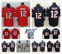 Deutschland Neue Männer 12 Tom Brady England 87 Rob Gronkowski Patriots Trikots 26 Sony Michel 11 Julian Edelman Trikots cheap new england football jersey Versorgung