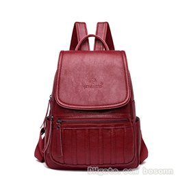 7fae7b2576d8 NEW Fashion Women PU Leather Backpack Designer Luxury Shoulder Bags School  Bag For Girls Flapover Rucksack Black Red Blue Boys Backpacks Hydration  Backpack ...