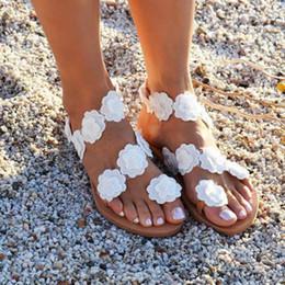 sandalia de fondo plano plataformas Rebajas Xiniu Moda Mujer Toe Flower Bottom Bottom Flat Sandalias de verano Open Toe Beach Bohemia Rome Sandals Flat Platform # 0330