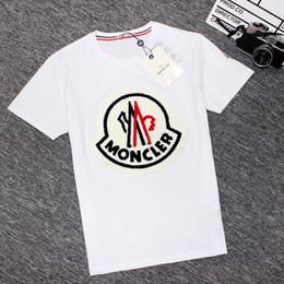 aufkleber für sport Rabatt European American Mens Womens T-Shirts Retro-Klassiker neue Sport-Kurzarm-Shirt Baumwolle Frottee-Kragen durch Logo-Aufkleber kurze Hemden