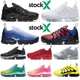nike air vapormax plus TN 2020 hommes chaussures de course Hyper Violet Bleu Glacé Citron Vert Citron Be True triple noir blanc Rainbow hommes de