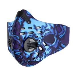 Radfahren kostüm online-Hot Cycling Face Mask Aktivkohle-Vliestuch Atmungsaktiv Staubdicht Einstellbar Outdoor Halloween Kostüme Zubehör