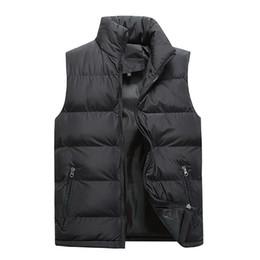 Koreanische männer winterweste online-Chalecos Para Hombre Winter Plus Größe Korean Style Weste Herren Herbst Winter Warme Taille Mantel Männer Casual Feste Jacke Gilet Homme