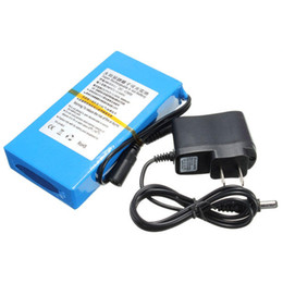 Batería recargable de iones de litio de 12 v online-DC 12V 8000mAh de Super litio recargable portátil - ion Battery Pack