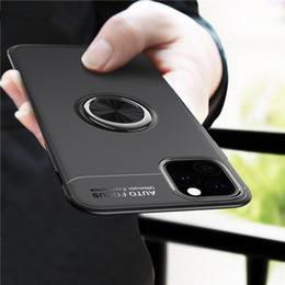 casi di stampa auricolare Sconti Caso dell'anello di barretta di lusso su di iPhone Funda 11 Pro Max 2019 Coque iPhone X Xs Max XR 6s 7 8 più l'argomento Car Cover staffa magnetica