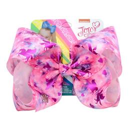 Lantejoulas de grandes dimensões on-line-Oversized Grampo de Cabelo Grampo de Cabelo Arco Artesanal Knot Ribbon Hairpin Universo Acessórios para Meninas Sequin Unicórnio JoJo Arcos