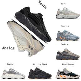 кроссовки ems Скидка 2019 adidas yeezy 700 v2 Boost лето черный белый мужские кроссовки кремовый разводят красная зебра женская мода спортивные кроссовки 36-45
