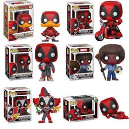 figurine de films Promotion Funko Pop Marvel Super Héros Deadpool Brinquedos Figurine Jouets Ami Enfants Enfant Collection Cadeau De Anniversaire Pour Les Fans De Film Q190604