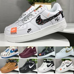 Nike air force 1 one off white Saldi 2019 New Design Forces Uomo Low Skateboard Scarpe Cheap One Unisex 1 Knit Euro Air High Donna Tutto Bianco Nero Rosso da pattini all'ingrosso di buona qualità fornitori