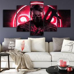 2019 maravilha posters Capitão de Hydra Art Canvas Poster Home Decor Wall Art Estrutura 5 Peças Pinturas Para Sala de estar HD Prints Marvel Pictures maravilha posters barato