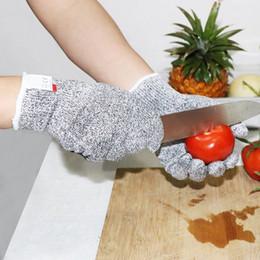 Anti-schneidhandschuhe online-1 Paar Outdoor-Angeln Jagdhandschuhe Schnittschutzmesser Schnittschutzhandschuhe aus Stahldrahtgeflecht